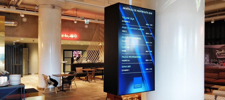 Digital signage on tyylikäs tapa viestiä auloissa, vastaanottotiskeillä ja kokoustiloissa