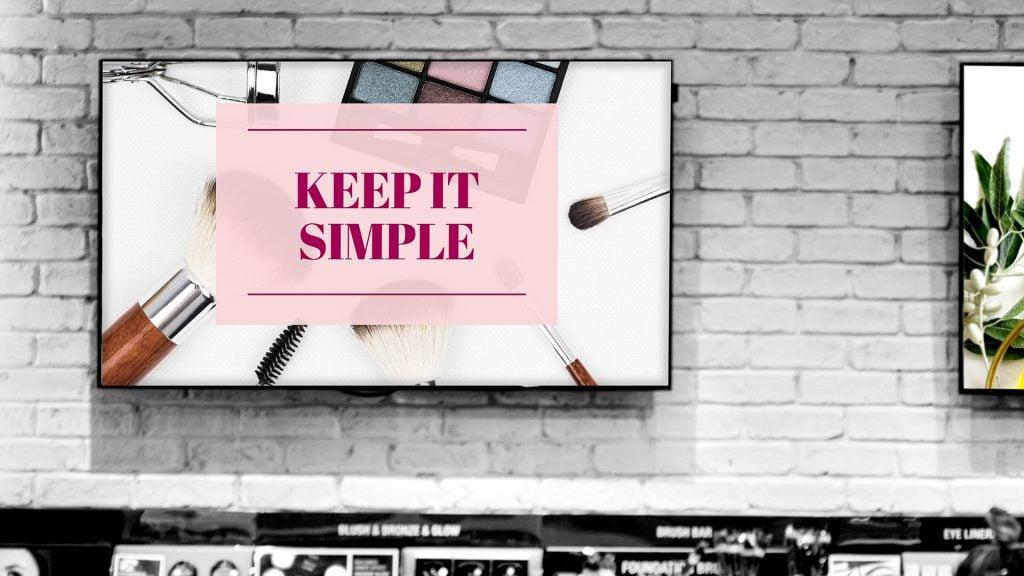 Infonäytöillä yksinkertainen sisältö toimii parhaiten