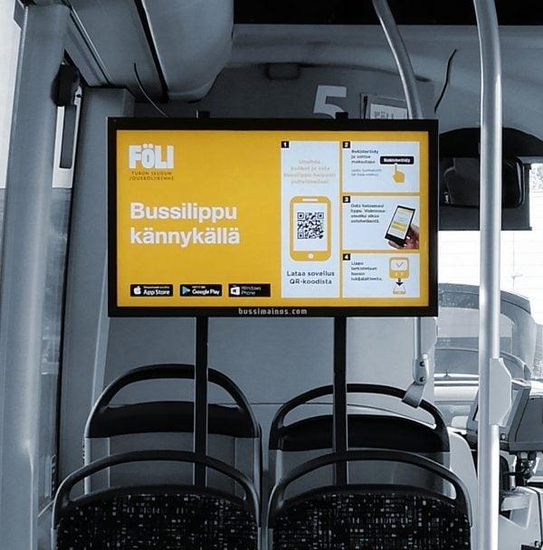 Bussimainonta diginäytöillä tuo uusia mahdollisuuksia asiakkaille